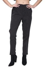 Παντελόνι Ριγέ Σε Μαύρο