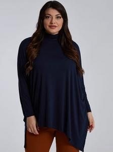 Plus size ασύμμετρη μπλούζα