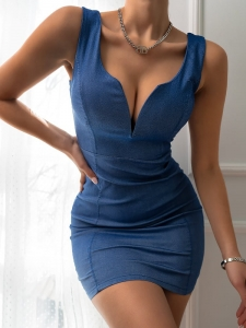 POLA BLUE MINI PENCIL DRESS