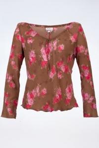 Πολύχρωμη Διάφανη Μπλούζα με Λουλούδια / Μέγεθος: 42 IT - Εφαρμογή: S
