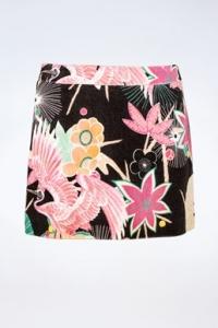 Πολύχρωμη Βαμβακερή Φούστα με Σχέδιο / Μέγεθος: 10 UK - Εφαρμογή: S