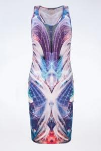 Πολύχρωμο Ελαστικό Φόρεμα