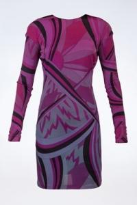 Πολύχρωμο Φόρεμα σε Μοβ Τόνους