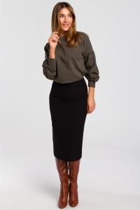 Ψηλόμεση pencil φούστα - Μαύρο