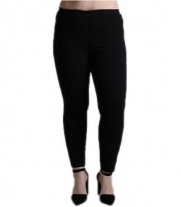 Ψηλόμεσο παντελόνι με ρελιαστές τσέπες (Μαύρο)