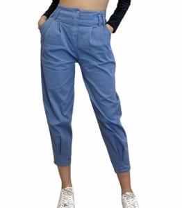 Ψηλόμεσο παντελόνι με τσέπες (Σιέλ)