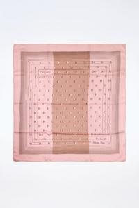 Ροζ Μεταξωτό Μαντήλι με Λογότυπο