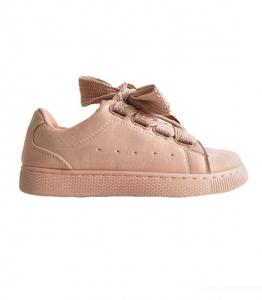 Ροζ sneaker σουέτ με δύο διαφορετικά