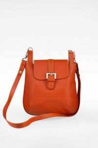 Σκούρα Πορτοκαλί Δερμάτινη Crossbody Τσάντα