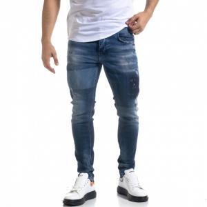 Slim fit ανδρικό μπλε τζιν