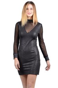 Snake look μίνι φόρεμα - Μαύρο