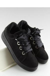 Sneakers φλατ με σατέν κορδόνια