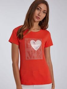 T-shirt με strass SH7974.4655+4