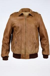 Ταμπά Δερμάτινο Jacket / Μέγεθος: