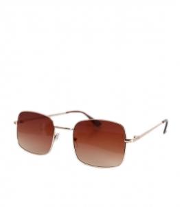 Τετράγωνα γυαλιά ηλίου με καφέ φακό και χρυσό σκελετό