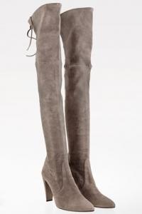 Topo Gray Stone Over-The-Knee Σουέντ Μπότες / Μέγεθος: 40 - Εφαρμογή: Κανονική