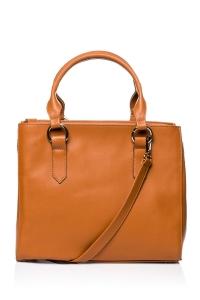 Τσάντα ώμου - Κάμελ