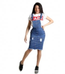 Τζιν σαλοπέτα φούστα με κουμπιά