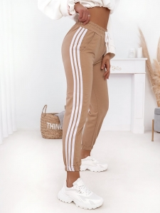 UMA BEIGE STRIPED SWEATPANTS