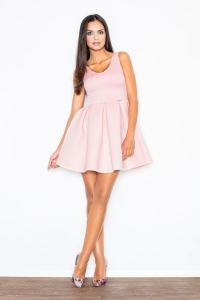 Βραδινό μίνι φόρεμα κλος - Ροζ