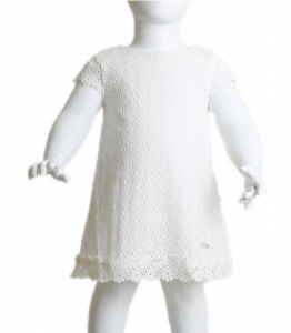 Βρεφικό φόρεμα δαντέλα (Λευκό)