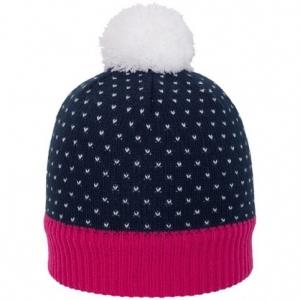 Winter hat 4f HJZ18-JCAD006 - navy-pink