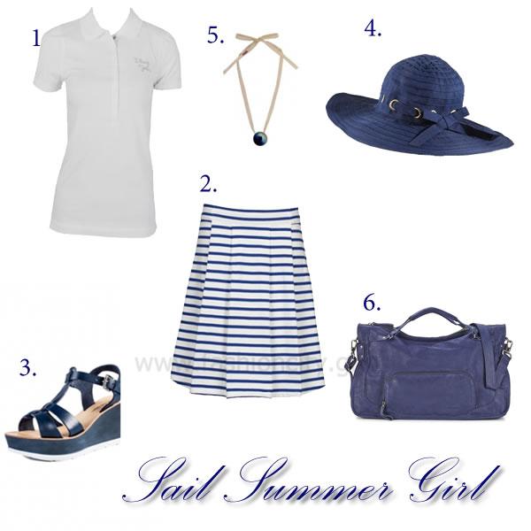 Sail Summer Girl set